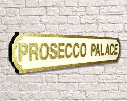 Prosecco Palace Gold Glitter